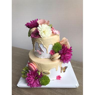 Торта Пеперуди и Цветя 3