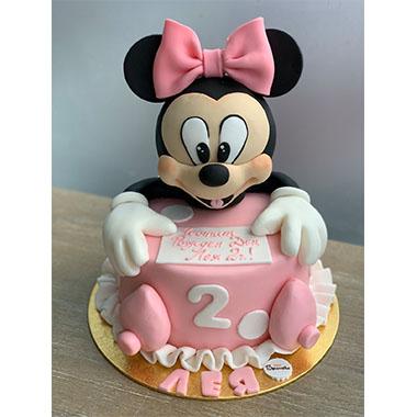 Торта Мини Маус в розово
