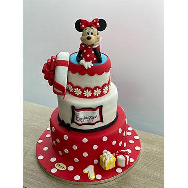 Торта Мини Маус в червено