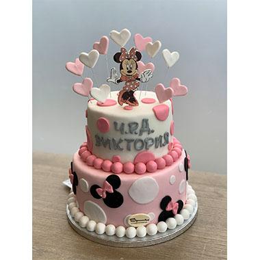 Торта Мини и сърца