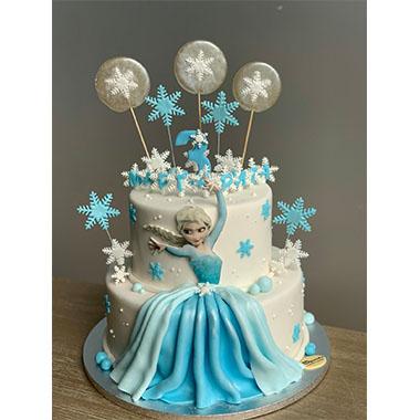 Торта Елза и снежинки