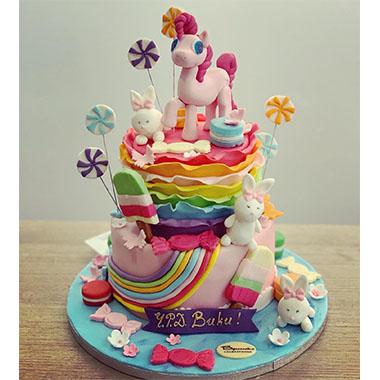 Торта Пъстро Пони