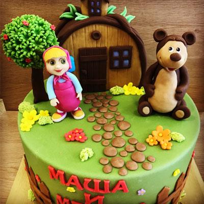 Торта Маша и Мечока 1
